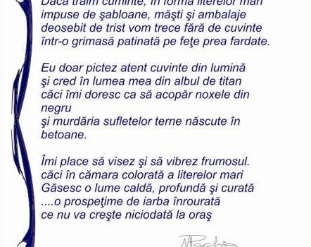 Litere Mari, o poezie scrisă de Mariana Pachis
